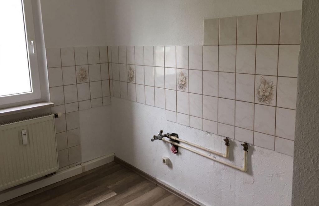 Küche Zweiraumwohnung vorher