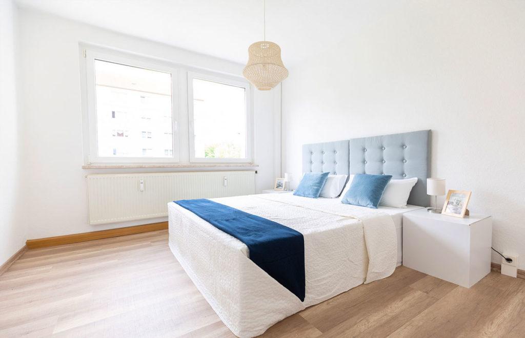 Schlafzimmer nach Home Staging in Dresden